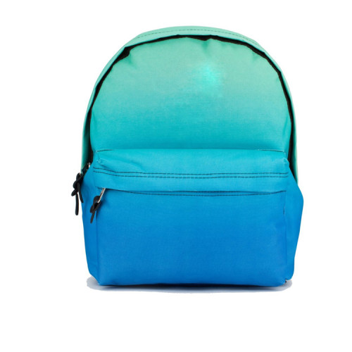 Full Color Printed Blue 2016 Young Men Classic Laptop Backpack Bag