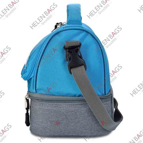 Blue Color 420D Cooler Bag Waterproof Lunch Cooler Bag Customized