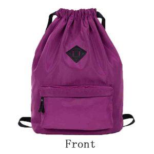 2016 Nylon Mesh Drawstring Sports Backpack for Yoga Ladies