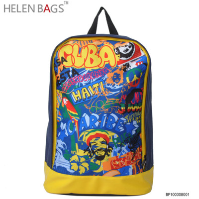 Wholesale casual girl boy travelling backpack bag fashion PU school backpack for teenager