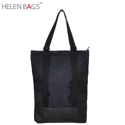 Custom printed organic wholesale recycled cotton bag womens tote bag camouflage