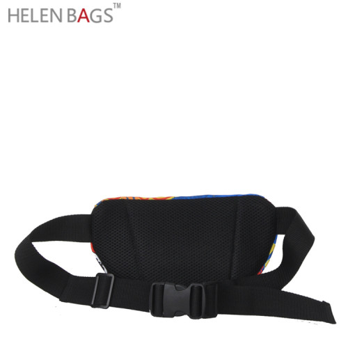 Fashion 3D Printing Waterproof Waist Pouch Bag Dry Bag for Running with Belt Waist Bag