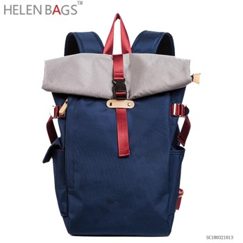 2017 latest design leisure backpack blue school parker double shoulder back bag