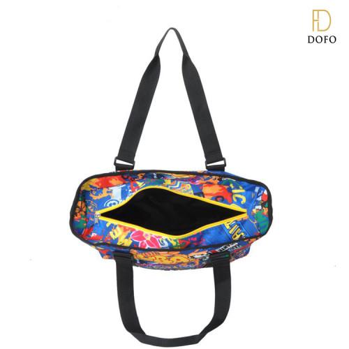 Fashion canvas tote bag leather handle cotton tote bag