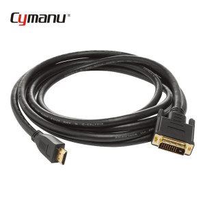 24K gold plated DVI cable DVI 24+1 Male to 1.4 V HDMI 19P Cable
