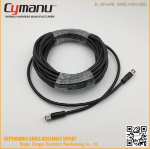 IP67 Waterproof M12 10PIN connector Male & Female Cable Assembly