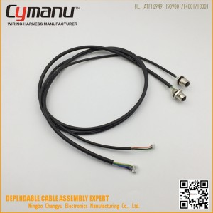 M12 Connector 10PIN Male and Female Cable Assembly