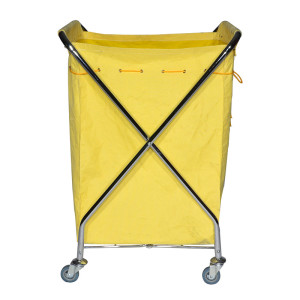 X type heavy duty industrial laundry sorter cart on wheels