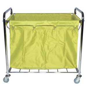 commercial long square type laundry trolley on wheels