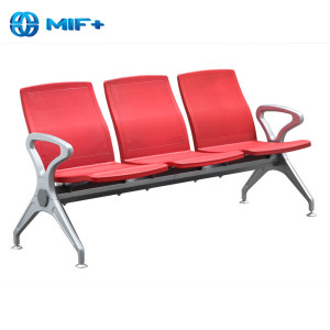 Contemporary cheap red steel chair for public area