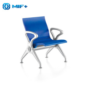 contemporary cheap blue steel chair for public area