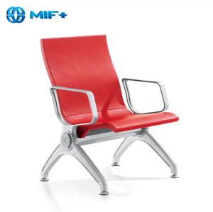 Sale PU Seat Back Red Steel Airport Waiting Chair