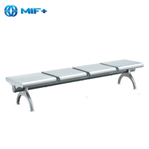4 seaters steel waiting chair with 1.5mm thickness painted of cross beam
