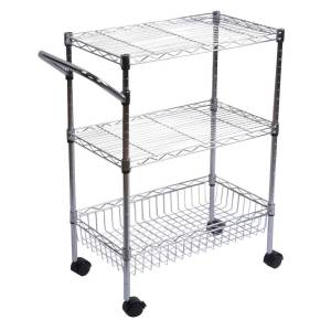 Classics 3-Shelf Ultra Zinc Commercial Utility Cart