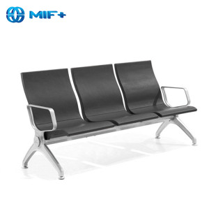 Hot sale Black 3 Seaters Steel Waiting Chair