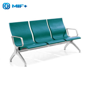 best ergonomic 3 seaters steel green airport waiting chair for sale