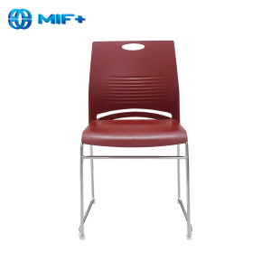OEM low price high quality red plastic leisure chair