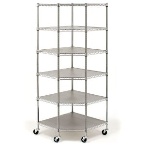 6-Tier Layer Wire Shelf Shelving Adjustable Heavy Duty Rack Corner Unit Storage