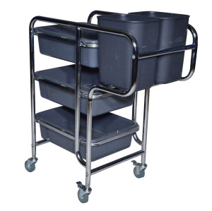Hotel & restaurant detachable dish collect cleaning trolley cart