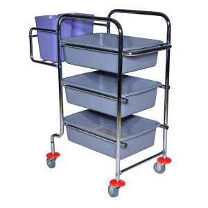 Restaurant Cart bowls and dishes Collection Cart