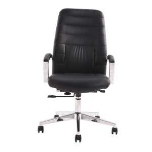 Mid Back Executive Office Chair With Arms In Black