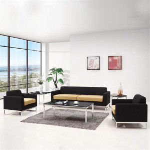 Modern Couch With Chrome Legs