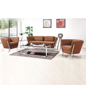 Modern flannelette Couch With Stainless steel Legs