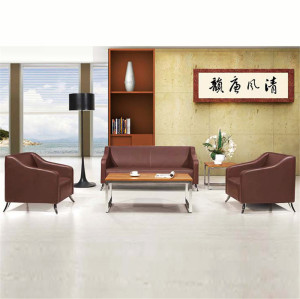 MIF+ Furniture Series Brown Modern Contemporary Designed Leather Sectional Sofa , 3 Pieces