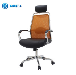 Red Mid-back Fashionable Swivel Office Computer Chair with Head Pillow