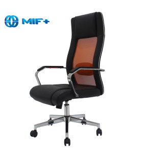 Flash Orange Swivel Adjustable Office Chair with Fixed Arm
