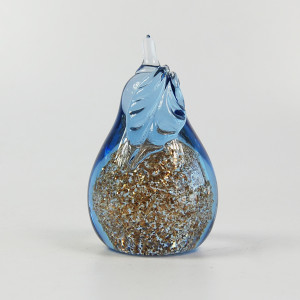 Handcraft Wholesale Glass Pear Ornament With Glitter