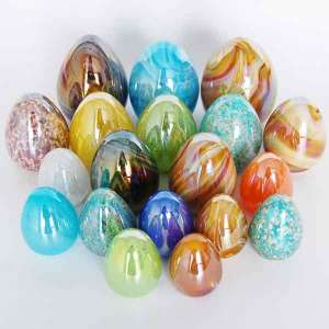 Handblown glass Colored Easter Egg Decoration