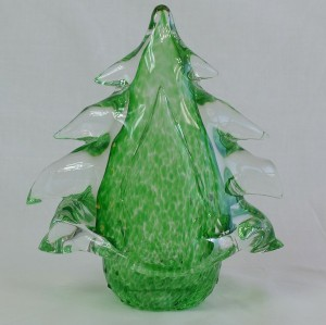 handblown transparent green christmas tree  interior  decoration