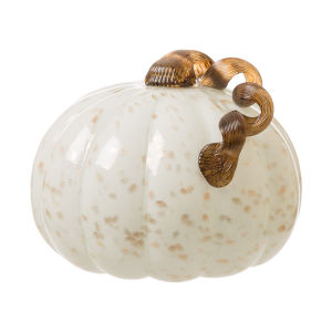 Handblown Glitter Glass Pumpkin Art Decors para la cosecha