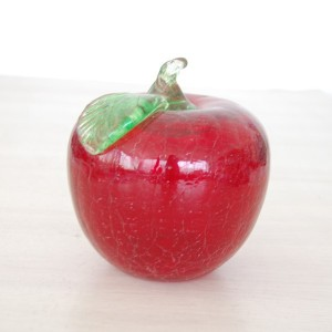 Wholesale  Small Handblown Decorative Glass Apple