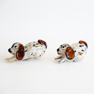 Chinese Manufacturers Handmade Glass Crafts Colorful Dog Animal Figurine