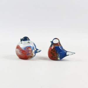 China Made Hand-Blown Glass Little Bird Desk Pet