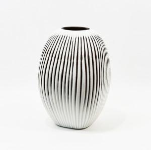 Vertical Cutting Art Glass Bowl
