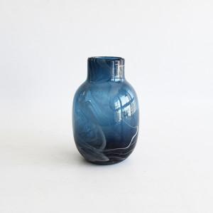 Blue Art Blown Glass Vase