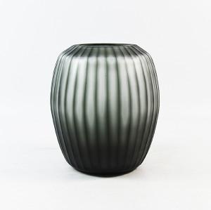 Black Vertical Cutting Vase