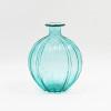 Light blue art glass vase
