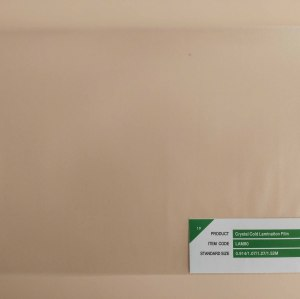 Advertising material matte cold lamination film best price