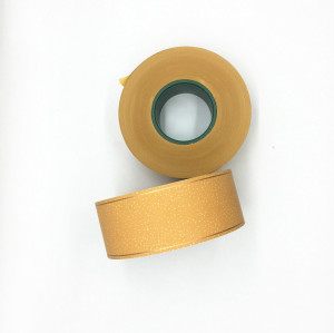 34gsm High Quality Yellow Plain Cork Cigarette Tipping Paper With Two Gold Line