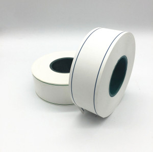 White Glossy Aluminum Foil Laminated Cigarette Tipping Paper With Colored Line