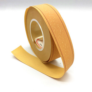 Yellow Plain Cork Cigarette Tipping Paper With Perforated Hole And Gold Line