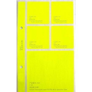 color fluorescent paper white glassine liner