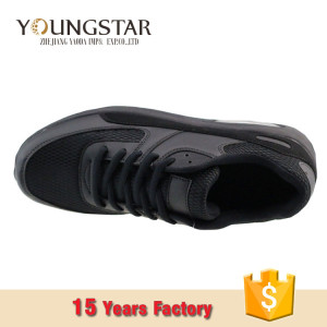 comfortable breathable Fashion Custom Black Mens Sneakers