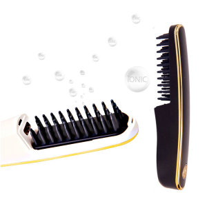 Rechargeable portable ionic hair styling comb