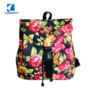 Women Colorful Flower Backpack