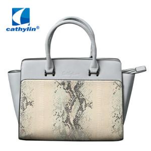 Good quality PU leather tote shoulder handbag women bag